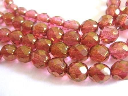 Lumi,Pink,8mm,Faceted,Round,Czech,Glass,Beads,Fire,Polished,beads, supplies, czech_beads, 8mm_pink_beads, glass_beads, czech_glass_beads, lumi_czech_bead, pink_czech_glass, pink_czech_beads, 8mm_round_beads, faceted_round_beads, pink_beads, pink_round_beads, Beads2string, pink_glass_beads, 8mm_round_pink_beads, be