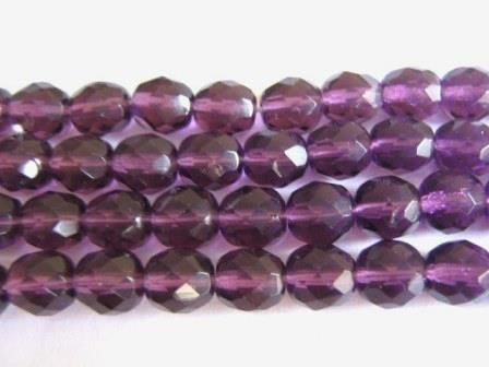 Amethyst,Purple,8mm,Faceted,Round,Czech,Glass,Beads,supplies, Bead, glass_beads, czech_beads, czech_glass_beads, czech_purple_beads, round_beads, 8mm_beads, round_glass_beads, 8mm_round_bead, bead_supplies, beads2string, faceted_round_bead, jewelry_supplies, buy_beads_online, bead_store