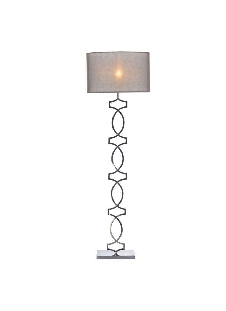 Black Chrome Floor Lamp - REDVERS