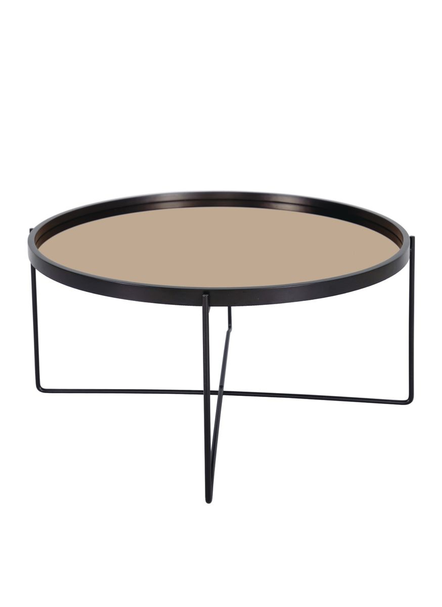 Rose Gold Mirror Top Coffee Table Redvers