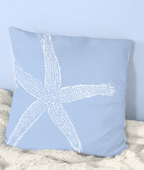 Starfish,Throw,Pillows-,18x18in,(large,starfish),Housewares,Pillow,Novelty,sand,beach_house,beach_house_living,beach_chik_designs,starfish,starfish_pillow,green_starfish,sand_starfish,sea_green,coral,gray,coral_cream,coral_starfish