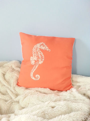 Seahorse,Throw,Pillows-,16x16in,Housewares,Pillow,Novelty,coral,sand,seahorse,beach_house,beach_house_living,seahorse_throw_pil,seahorse_throw,seahorse_pillow,coral_seahorse,sand_seahorse,beach_chik_designs