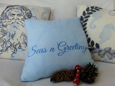 Seas,n,Greetings,Coastal,Christmas,Pillow,,starfish,Housewares,Pillow,Novelty,holiday_pillow,beach_house_decor,santa_pillow,laurel_wreath,coastal_Christmas,christmas_starfish,coastal_home,Christmas_pillow,laurel_wreath_pillow,coastal,cottage_style,seas_n_greetings,seasons_greetings