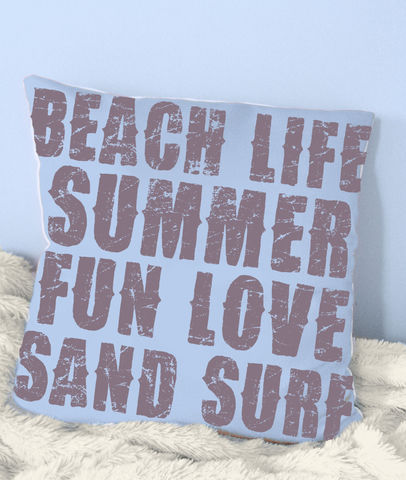 Summer,Time,Pillow-,18x18in,Housewares,Pillow,Novelty,beach_house,beach_house_living,beach_chik_designs,beach_life,couch_pillow,throw_pillow,accent_pillow,beachy_accent_pillow,periwinkle,custom_pillow,teen,bedroom_accent,girls_beachy_room