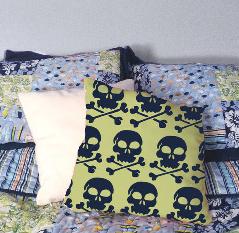 Skull,and,Cossbones,Throw,Pillow,Housewares,Novelty,skull_and_crossbones,skull_pillow,pirate_pillow,beach_chik,beach_chik_deisgns,boys_bedroom,bedroom_pillow,boys_room,girls_bedroom,girls_bedroom_pillow,custom_kids_pillow,custom_bed_pillow,kids_throw_pillow