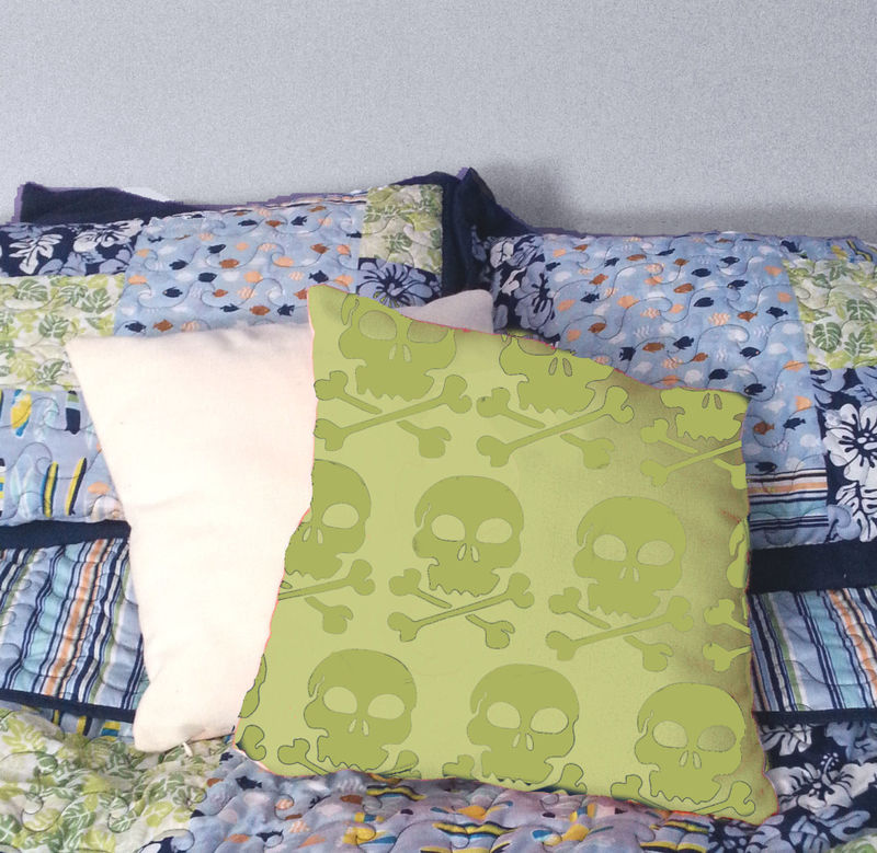 Skull and Cossbones Throw Pillow - product images  of