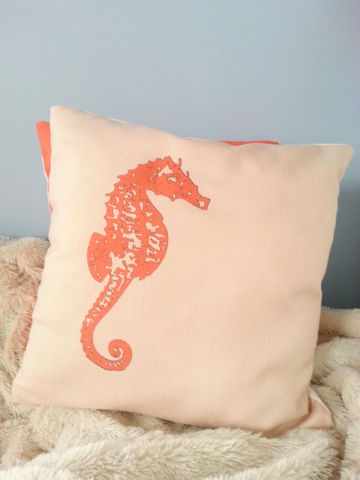 Seahorse,Throw,Pillows-,18x18in,Housewares,Pillow,Novelty,coral,sand,seahorse,beach_house,beach_house_living,seahorse_throw_pil,seahorse_throw,seahorse_pillow,coral_seahorse,sand_seahorse,beach_chik_designs