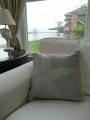 Starfish Throw Pillows (large starfish)- 16x16in - product images 3 of 4