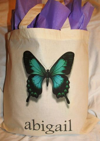 Personalized,Butterfly,Bag,bags_and_purses,tote,gift_bag,birthday_gift,birthday,birthday_party,wrapping_paper,etsynj_team,party_favor,butterfly_tote,personalized