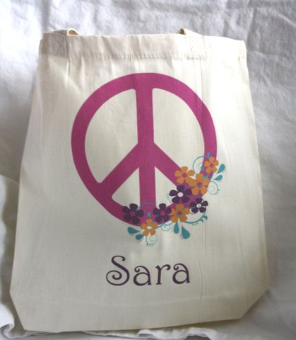 Peace,Sign,w/,flowers,Tote,Bag,bags_and_purses,tote,kids_tote,goodie_bag,loot_bag,party_favor,etsynj_team,eco,personalized,children,birthday_party_favor,peace_sign_tote,peace,peace_tote,bag,ink,computer,heat_press
