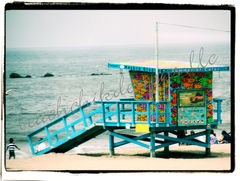 Santa,Monica,Lifeguard,Stand,Art,Photography,Landscape,beach,so_cal,southern_california,california,lifeguard_stastion,lifeguard,coast,coastal_california,coastal,shore,beach_house,surfer_dad,fathers_day