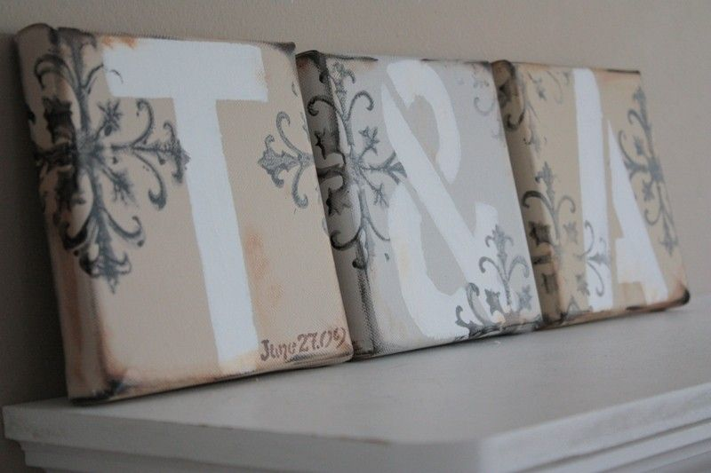 Letter Canvases- Classic- Featured on HGTV - product images  of