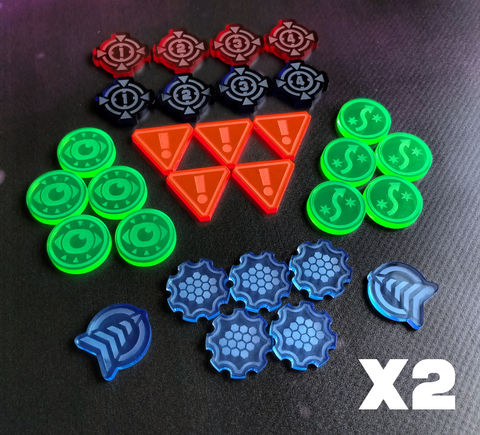 X-Wing,compatible,laser,cut,token,swarm,set,(60,tokens),x-wing xwing miniatures game tokens counters acrylic laser cut