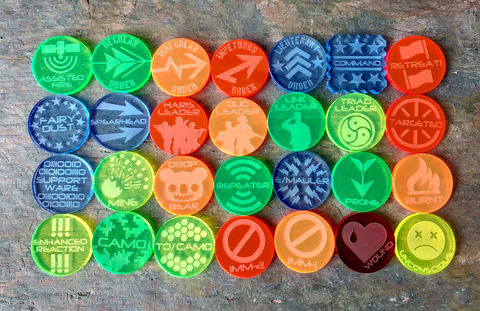 Sci-fi,tokens,Pick,N',Mix,infinity, infinity the game, infinity tokens, infinity markers, infinity counters, sci-fi,  Mines, E/mauler, Camo, T/O Camo, Spearhead, Retreat, Targeted, Repeater, Burnt
