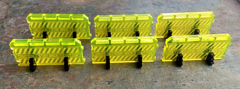 Crowd control barriers - Scatter terrain (set of 6) - product images  of