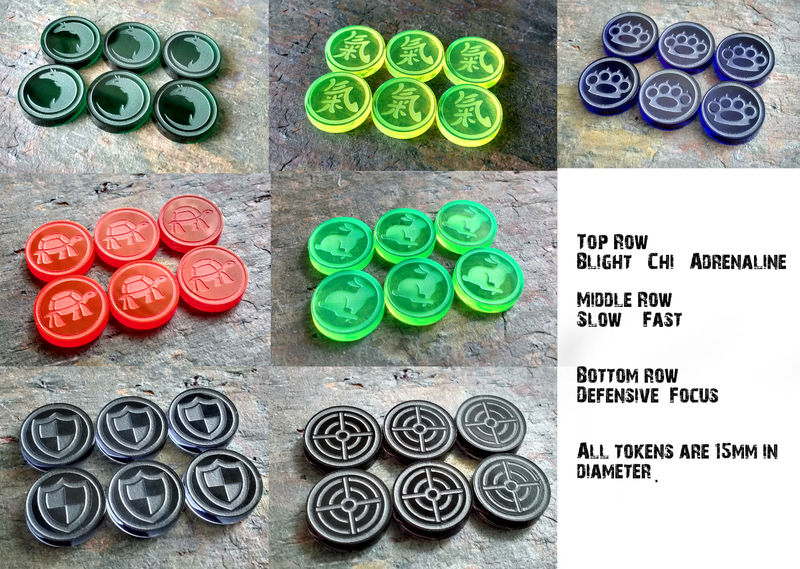 Small marker set (6 tokens) - product images  of