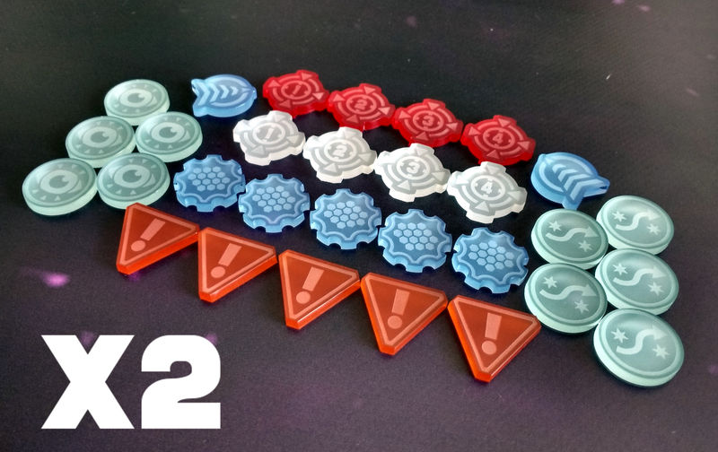 X-Wing laser cut frosted token swarm set (60 tokens) - product images  of