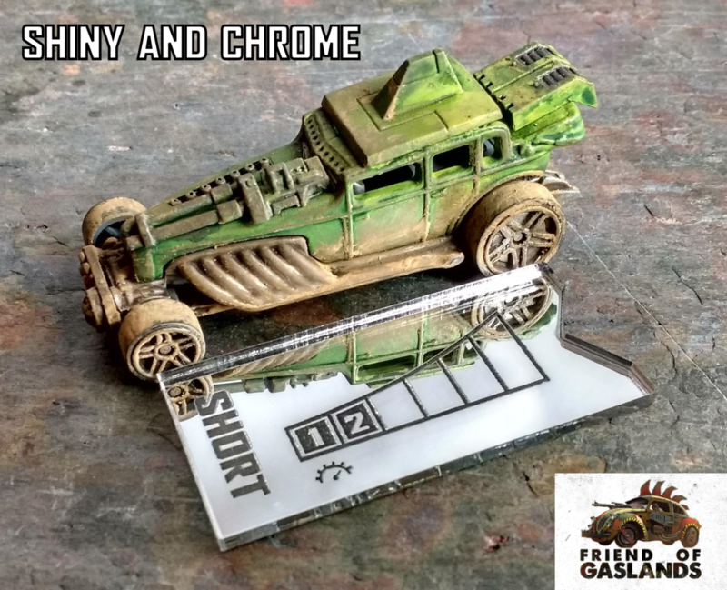 Gaslands 'Micro' Template Set (10mm scale) - product images  of