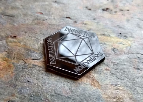 D&D,Inspiration,Tokens,(set,of,6),dnd, dungeons & dragons, inspiration, d&d