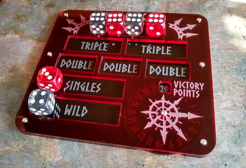 Warcry Compatible Dice Tray/ Score Counter - product images  of