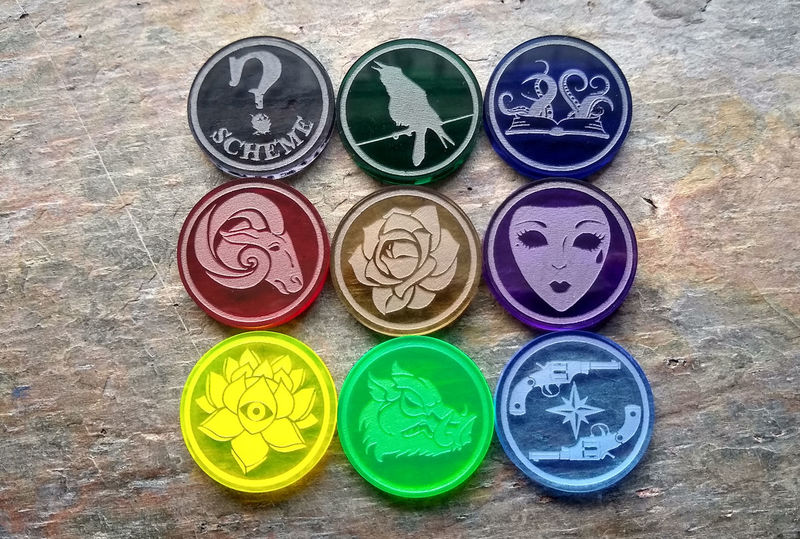 Malifaux GG season 1 token set - product images  of