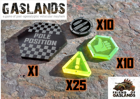 Gaslands,token,set,(46,Tokens), Tokens