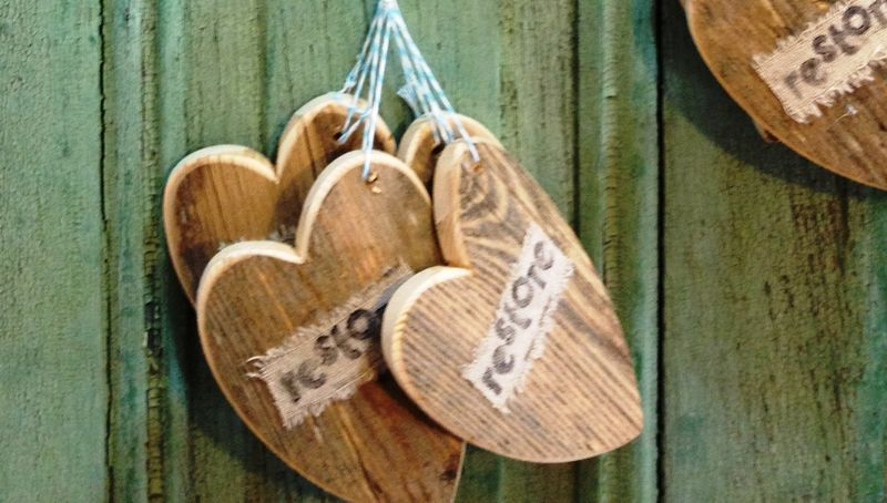 Restore the Shore Salvaged Wood Heart Ornament - product images  of