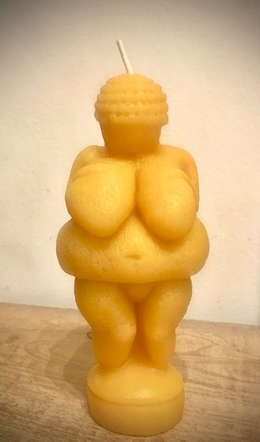 Fertility Goddess Beeswax Candle - product images  of
