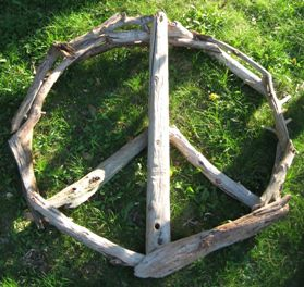 Peace,Adrift,36,Peace Sign, Art, Wall hanging, Eco Art, Green Art, Driftwood Art, Driftwood Peace Sign, Wood Art, Found Wood Art, Sculpture, 36 Art, 36 Peace Sign