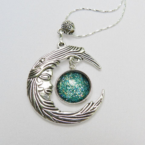 Crescent,Moon,Necklace,in,Assorted,Glitter,Colors,Jewelry,pendant_charm,necklace_pendant,Hippie_jewelry,Retro_Jewelry,crescent_moon,moon_pendant,moon_jewelry,starry_night,moon_necklace,glitter_jewelry,nail_polish_jewelry,alloy charms,jump rings,alloy bail,glass glitter cabochon in metal setting