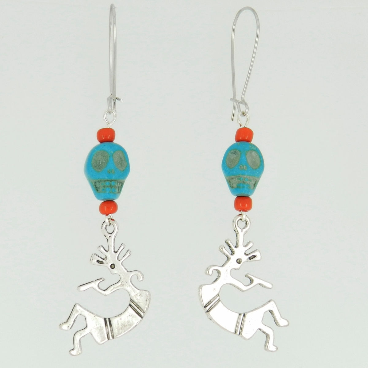 Kokopelli Earrings Southwestern Jewelry Flute Player - product images  of