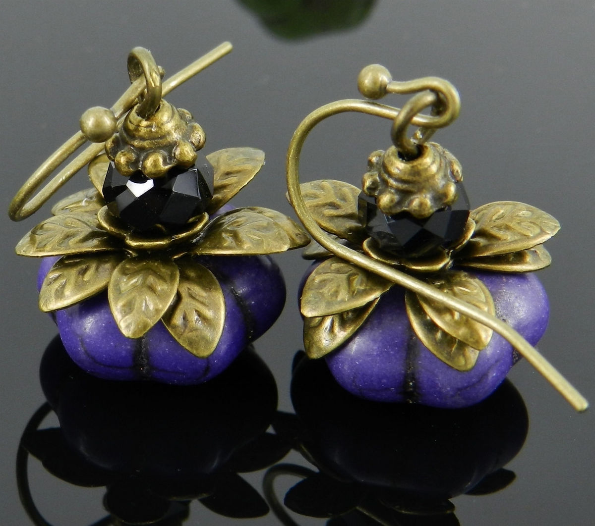 Pumpkin Earrings, Thanksgiving, Autumn  - product images  of