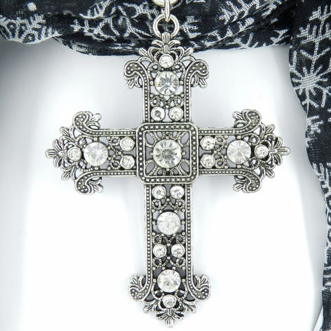 Scarf,Slide,with,Large,Cross,,Jewelry,,Pendant,Accessories,scarf_charm,scarf_accessory,scarf_pendant,silver_bail,scarf_jewelry,crystal_cross,rhinestone_cross,cross_pendant,scarf_slide,scarf_bling,religious_jewelry,clear_crystal