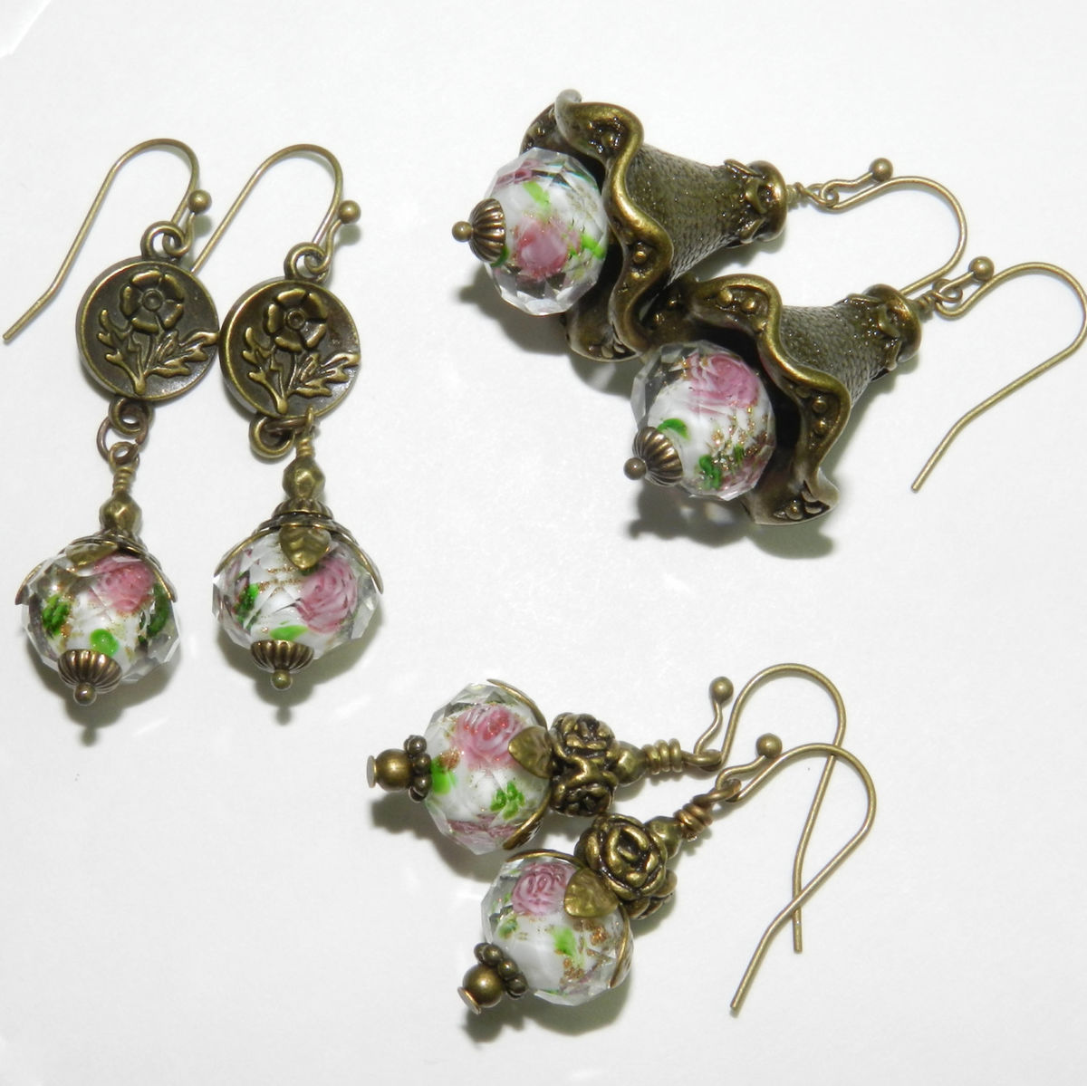 Glass Rose Earrings  - product images  of