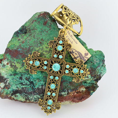 Rhinestone,Scarf,Jewelry,~,Aqua,and,Antique,Gold,Cross~,Accessory~,Slide,Accessories,scarf_charm,scarf_accessory,scarf_pendant,scarf_jewelry,crystal_cross,rhinestone_cross,cross_pendant,scarf_slide,scarf_bling,religious_jewelry,antique_gold,aqua_crystal,fancy_cross,large rhinestone cross,bail