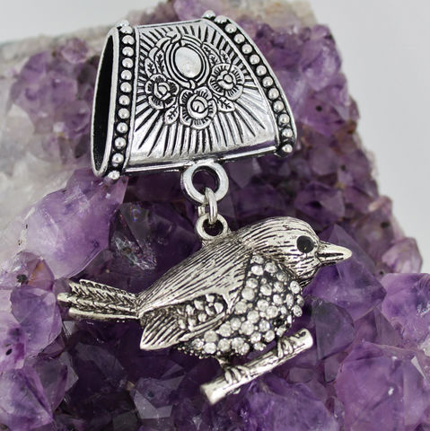 Rhinestone,Bird,Scarf,Slide,~,Jewelry,Pendant,with,Crystal,Accessories,scarf_slide,scarf_pendant,scarf_accessory,gift_for_woman,crystal_pendant,aurora_borealis,rhinestone_jewelry,antique_silver,bird_pendant,crystal_bird,bird_on_branch,3D_bird_pendant,rhinestone_bird,scarf bail,rhinestone bird pendant