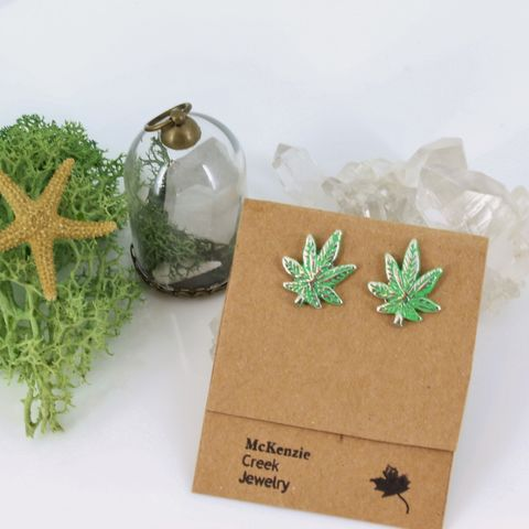 Cannabis,Leaf,Pot,Earrings,Jewelry,marijuana_earrings,cannabis_leaf, post earrings
