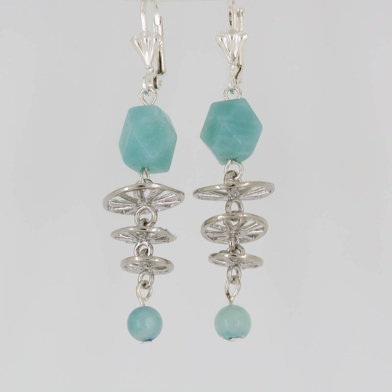 Baby Blue Amazonite Earrings - product images  of