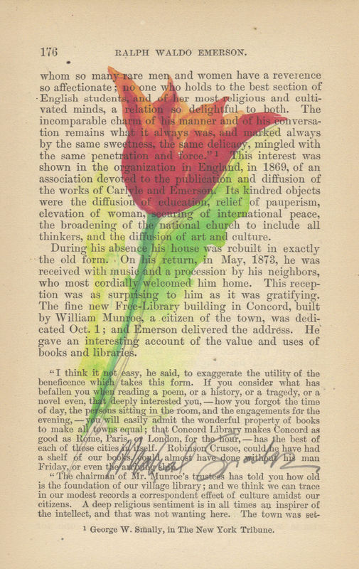 Beautiful Red Tulip Watercolor Print on Antique Book Page - product image