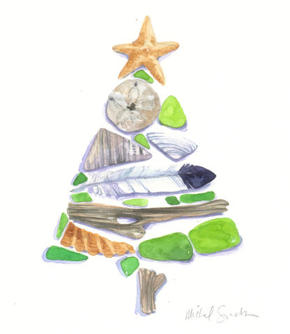 Christmas,at,the,Beach,,Sea,Treasures,Print,Art,Painting,Watercolor,beach_art,Christmas_art,Holiday Art,nj_shore,word_art,inspirational_art,watercolor_heart,beach_watercolor,acleverspark,restore,jersey_girl,Heart_Watercolor,SURF,watercolor,paper