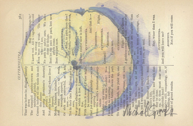 Ocean's Currency, Watercolor Printed on Antique Book Page - product image