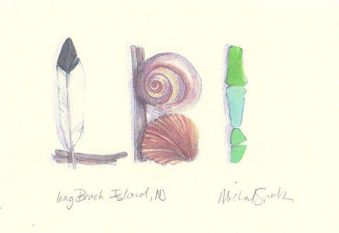 Beach,Watercolor,Print,Long,Island,,NJ,Art,Painting,beach_art,nj_shore,word_art,inspirational_art,beach_watercolor,acleverspark,nj_art,restore,jersey_girl,watercolor,shells,sandollar,shore,paper