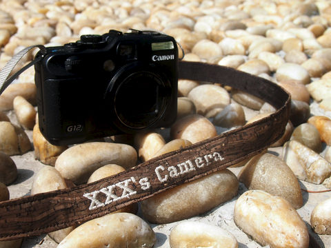 Wooden,grain,cork,camera,strap,(2,cm),(Add,on,Embroidery,Name)