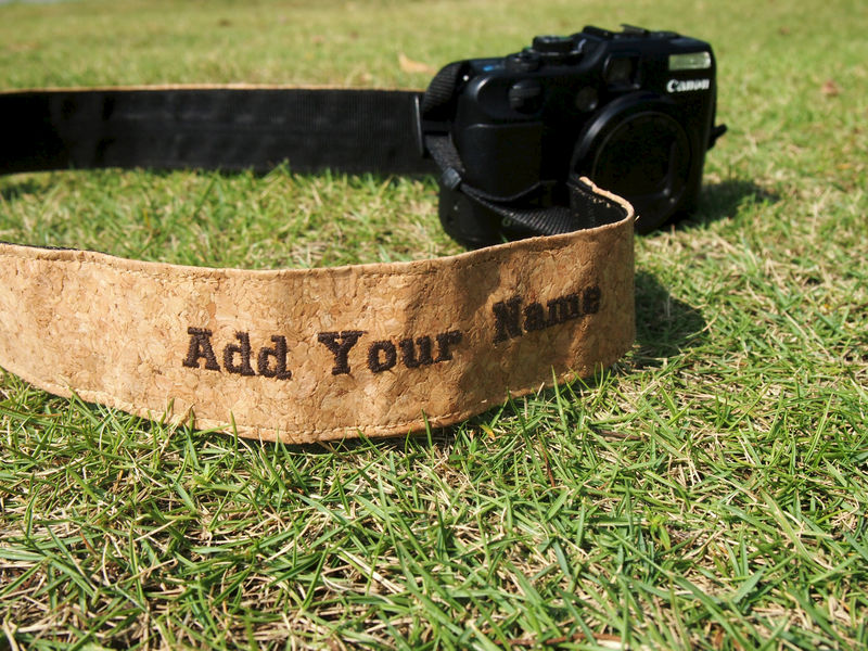 Cork camera strap (4cm)(Add on Embroidery Name) - product images  of