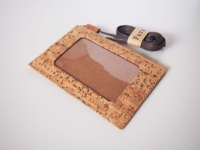 Cork (Stripe Pattern) Badge Holder (custom made size) - product images  of