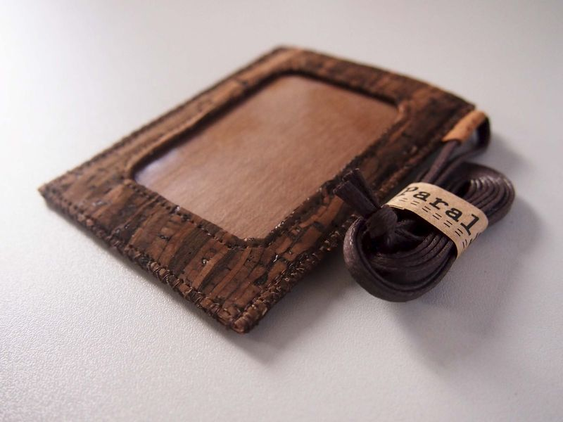 Wooden Grain Cork Badge Holder (custom made size) - product images  of