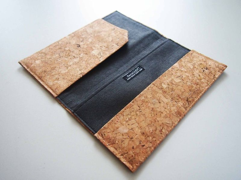 Paralife YOUR NAME's Cork Long Passport Holder - product images  of