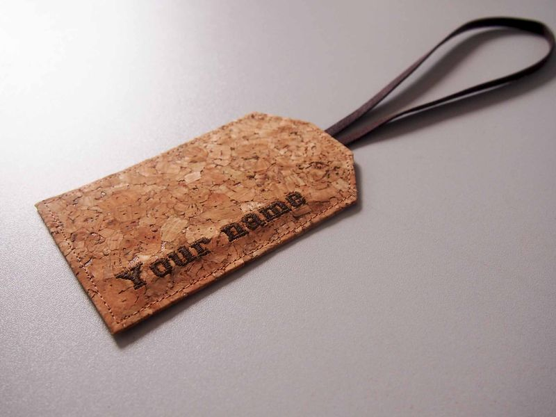 Paralife Personalized YOUR NAME's Cork Luggage Tag - product images  of