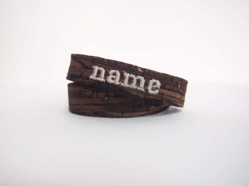 Paralife Personalized YOUR NAME's Wooden Grain Cork Bracelet - product images  of