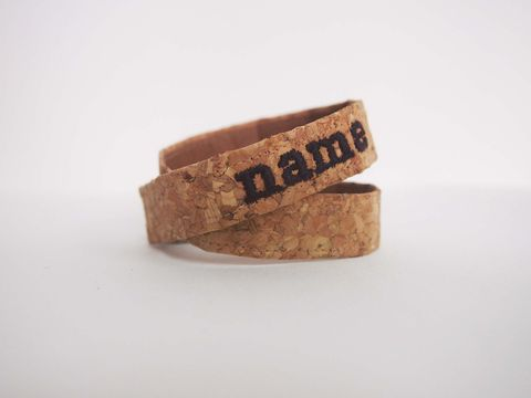 Paralife,Personalized,YOUR,NAME's,Cork,Bracelet